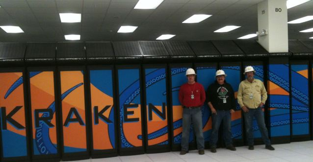 PipeFreeze Team at the Kraken XT5 Cray Jaguar Location Getting the Job Done Right the 1st Time.